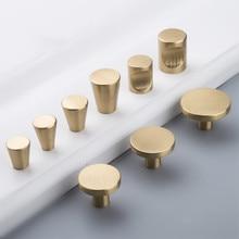 2X/5XBrushed Brass Cabinet Kitchen Knobs Gold Furniture Drawer Dresser Pulls Mix Shape