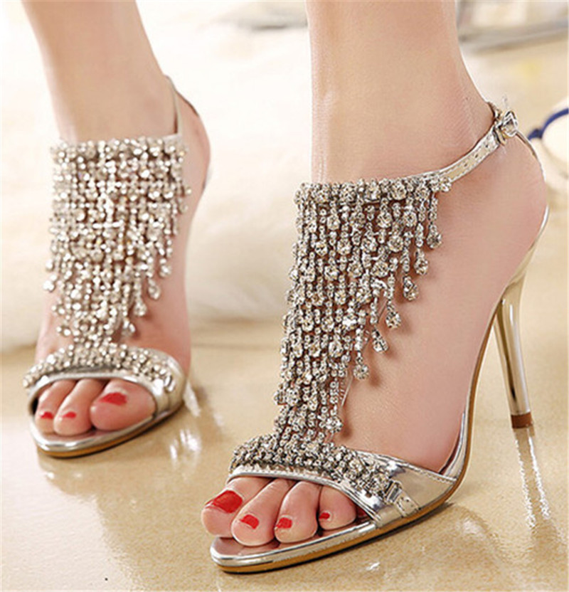 Silver Diamond High Heels Promotion-Shop for Promotional Silver ...