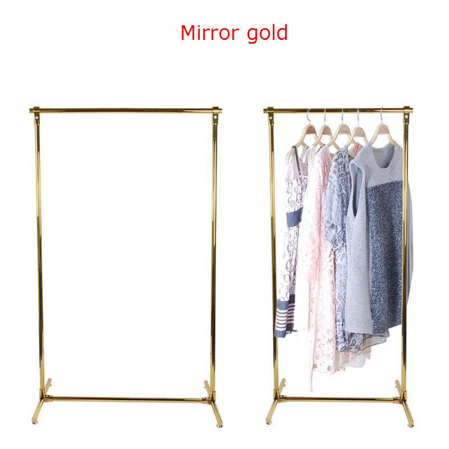 Boutique Store Clothes Display Racks Stainless Steel Hanger Frame ...