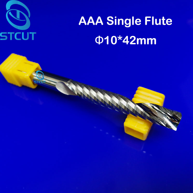 1pc 10mm Single Flute Spiral Cutter router bit CNC end mill For Acrylic carbide milling cutter cnc tools Machine Accessories huhao 1pc 8mm single flute spiral cutter 3a top qualit cnc router bits for wood acrylic pvc mdf end mill carbide milling cutters