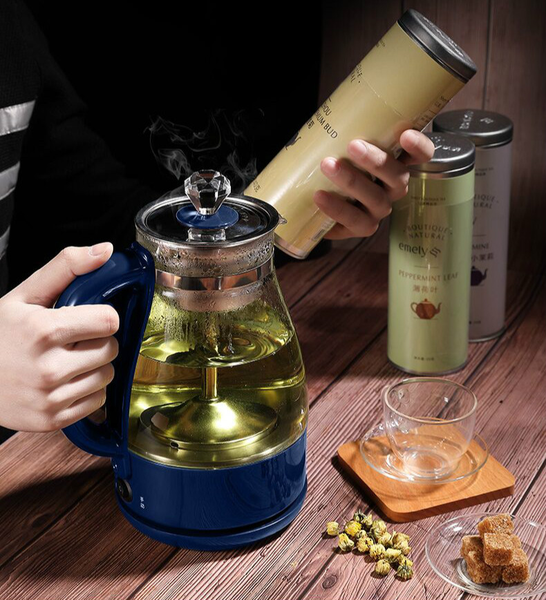 Glass tea pot anhua black household steam full automatic heat - resistant pu 'er high quality black tea flavor pu er waxy fragrant ripe tea slimming pu er green food 2016 new chinese mini yunnan puerh tea