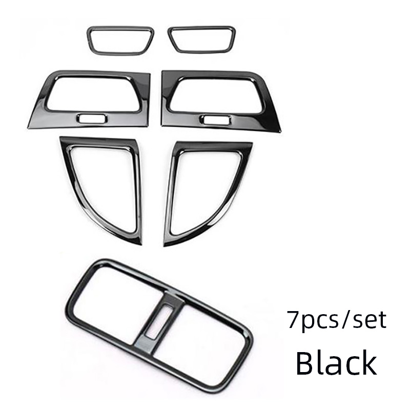 SUNFADA Stainless Steel Interior Air conditioning Vent Outlet Decoration Frame Trim Car Covers For HONDA CRV
