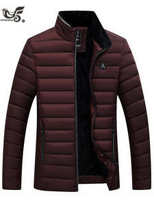 Winter Jacket Coats Parkas Men Fashion Mens Man And Cotton-Padded Slim-Fit Size-M--4xl
