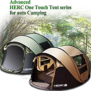 Image 2 - 2020 New Arrival 3 4 Person Ulttralarge Automatic Windproof Pop Up Fast Opening Camping Tent Large Gazebo Beach Tent