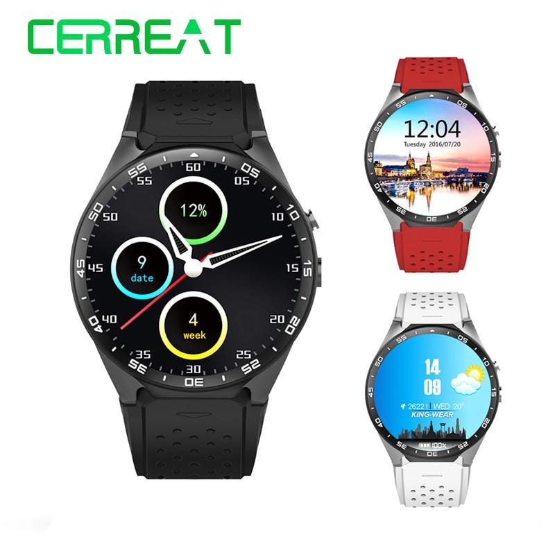 In stock kingwear KW88 Android 5.1 OS Smart Watch 1.39 inch 400*400 SmartWatch Phone Support 3G WIFI Nano SIM Reloj Inteligente