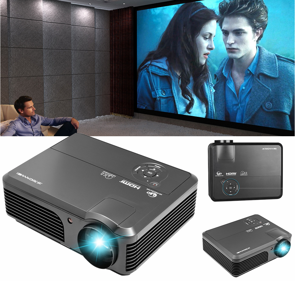 Caiwei Home Use Dvb T2 Projector Led Lcd Digital Tv: CAIWEI A6 Digital HDMI Home Theatre Support Full HD 1080P