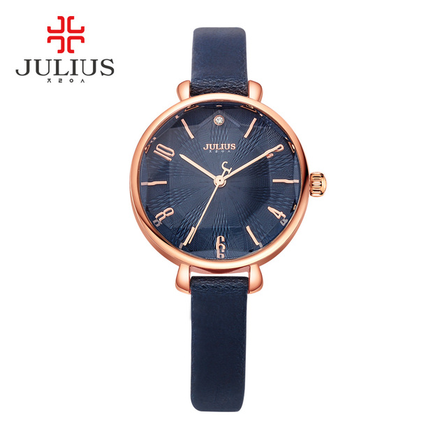 c20ff970109d JULIUS reloj con logotipo las mujeres amarillo promoción joyería de moda reloj  relojes impermeable reloj de