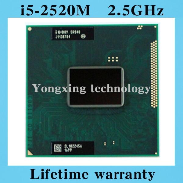 ФОТО Lifetime warranty Core i5 2520M 2.5GHz SR048 2520 Notebook processors Laptop CPU PGA 988 Official version  Computer Original