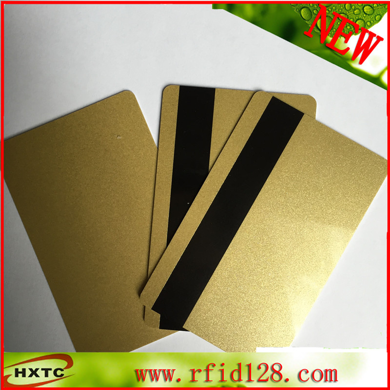 Free Shipping Gold Color PVC / Plastic Magnetic Stripe card (Hi-Co 2750, 3000 ,4000 OE) 50PCS/Lot 20pcs lot contact sle4428 chip gold card with magnetic stripe pvc blank smart card purchase card 1k memory free shipping