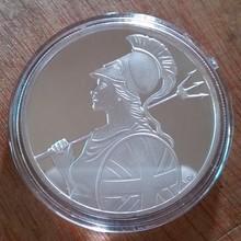 Посеребренный зеленый Тамплиер монеты медаль ЕС Великобритания Франция