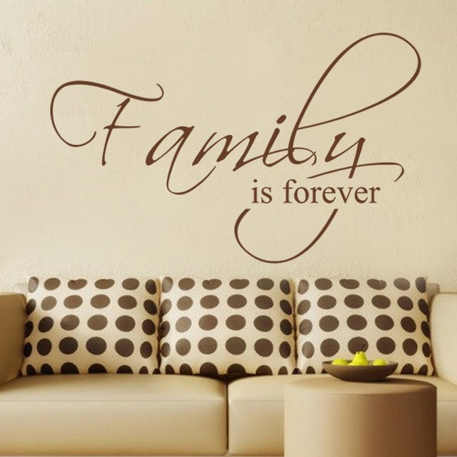 Family Is Forever   Housewares Family Wall Decal Quote Vinyl Text Stickers  Art Graphics Couples Decal
