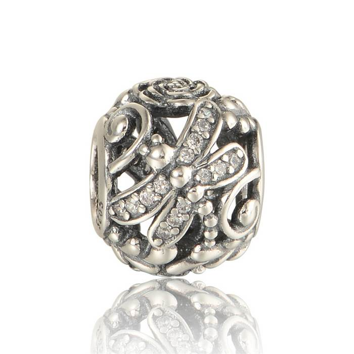 Discount Pandora Jewelry Charms: New 925 Sterling Silver Cheap Charms Wholesale Dragonfly