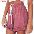 OOTN DK007 розовый трепал шорты трусики эластичный пояс узел белый мода одежда лето 2017 горячие продажа новые drawstring
