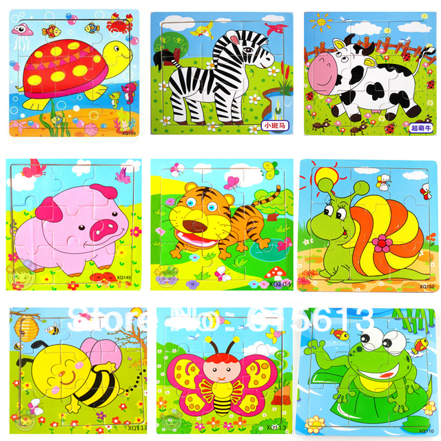 FREE Shipping,Hot Sale,2014 newest Wooden Puzzle Housetoys Children Animal Jigsaw Puzzle Educational Toys PT006