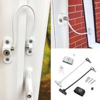 200mm Stainless Steel Door Window Limit Lock Window Lock Cable Remsafe Safety Latch Secure Window Accessory