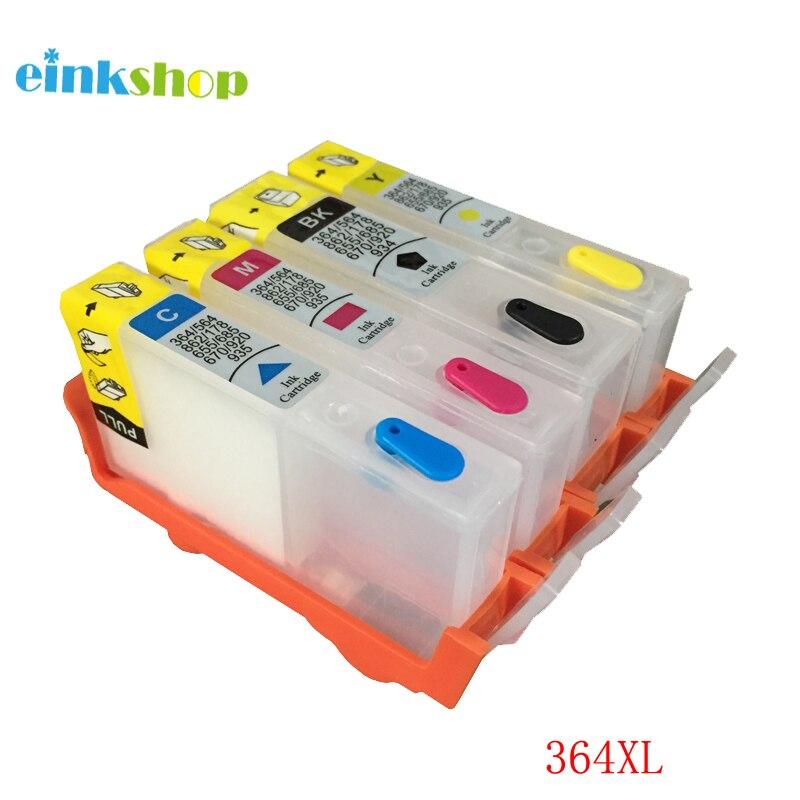 Einkshop 364 364 XL Cartuchos Recarregáveis com Chip para HP 3070a deskjet 4620 5510 3520 5520 6510 6515 6520 7510 7515 de Impressora