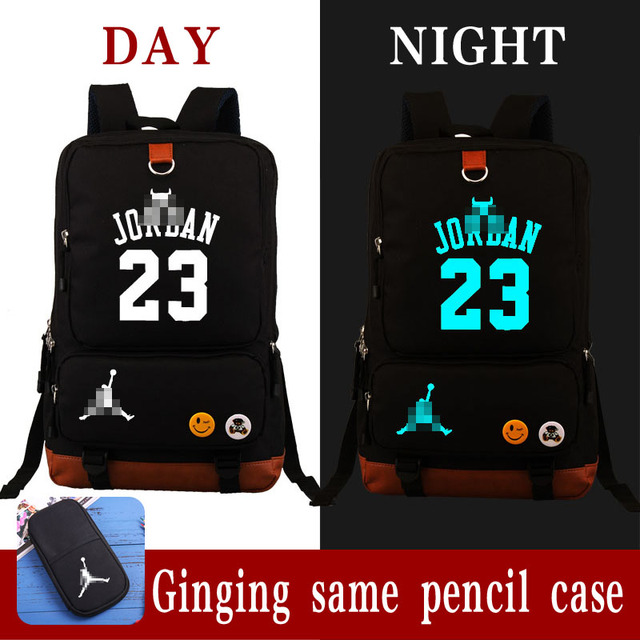 41aee3c6e4255a HOT SALE Michael Jordan 23 backpack USA basketball gods fans student  bookbag large USB charging laptopbag luminous printing