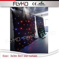 led twinkling backdrop wedding tv show full color leds twilking lights 10FT x 10FT star curtain