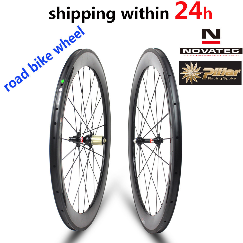 цена на Novatec A271/F372 Hub Pillar 1423 Spoke Carbon Road Bike Wheel 30mm 38mm 47mm 50mm 60mm 88mm Tubeless Clincher Tubular Wheelset