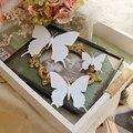 Новый 2016 Модные Прекрасный Летающий Невесты Белый Искусственный Бабочка Краткое Bridemaids Волос Заколки Клипы