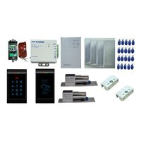 Password Access Control Home Security System Double Door Access Control System Power Supply Button Card Reader