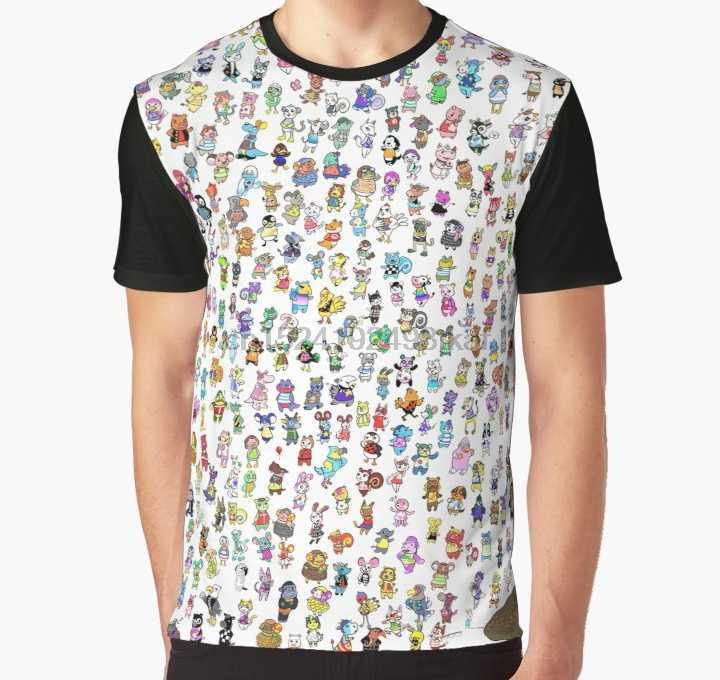 All Over Print 3D Tshirt Men Funny T Shirt Animal Crossing New Leaf - All Villagers Graphic T-Shirt