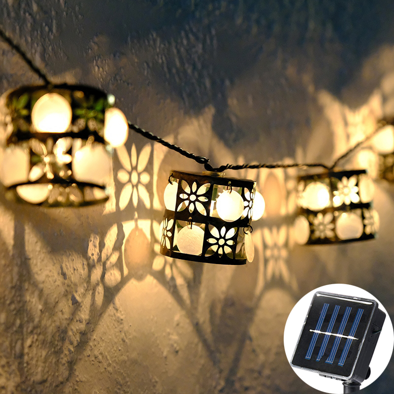 20Led Fairy Retro Shell Lantern guirnalda solar String Lights 5m LED Decoration For Christmas Garland lustre Wedding моторезина dunlop d212 190 55 r17 75w tl