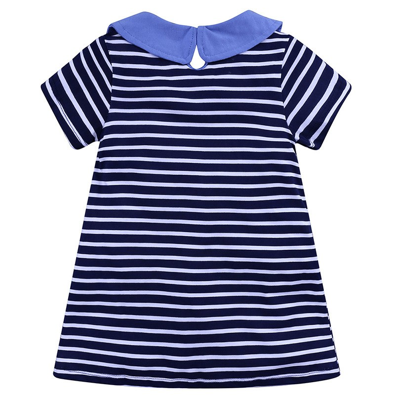 High Quality Baby Girl Dress With Strip Pattern And Short Sleeve Comfortable For Kids Dressing In Different Places L1