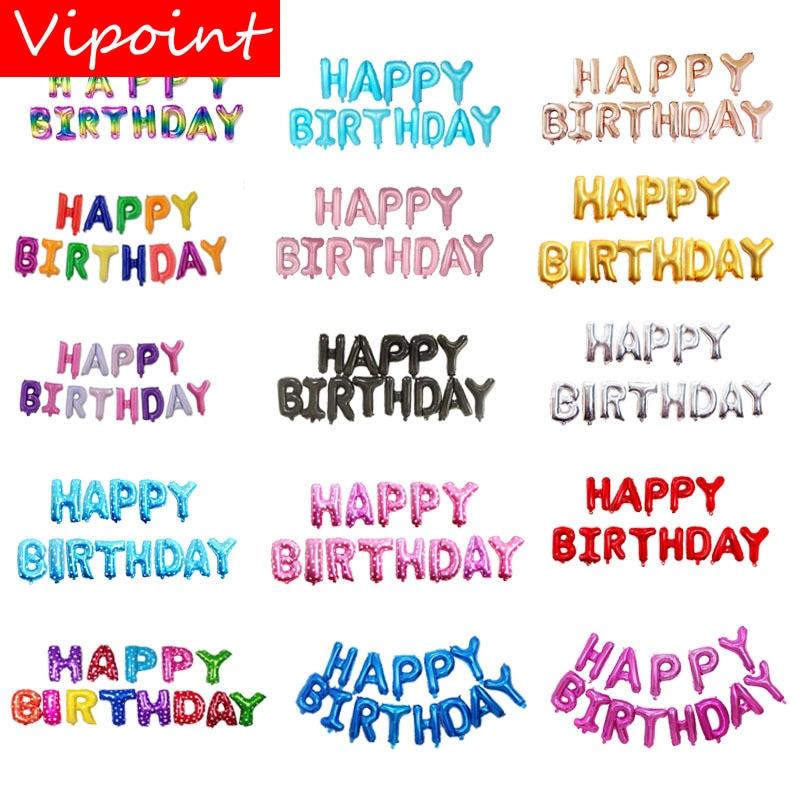Selamat Ulang Tahun Balon Huruf 16inch Ulang Tahun Balon Foil Balon Dekorasi Untuk Pesta Fd 16 Ballons Aksesoris Aliexpress