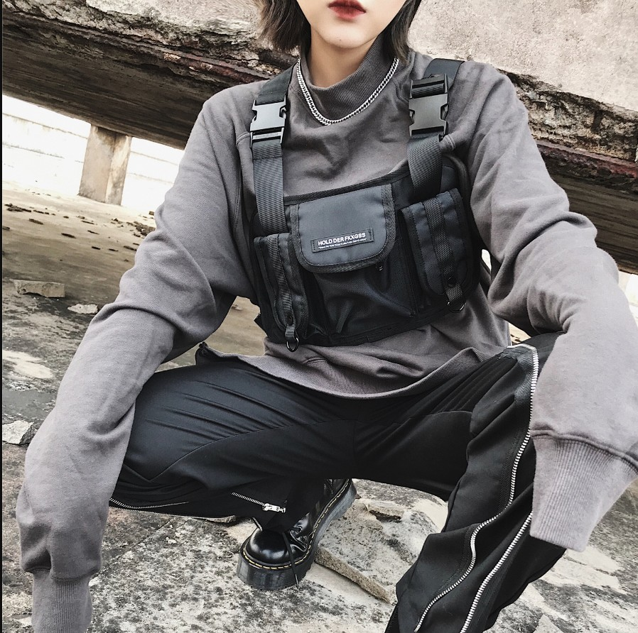 Updated Kanye West  Ins Hot Style Chest Rig Military Tactical Chest Bag Functional Package Trendsetter Fashion Pop Prechest