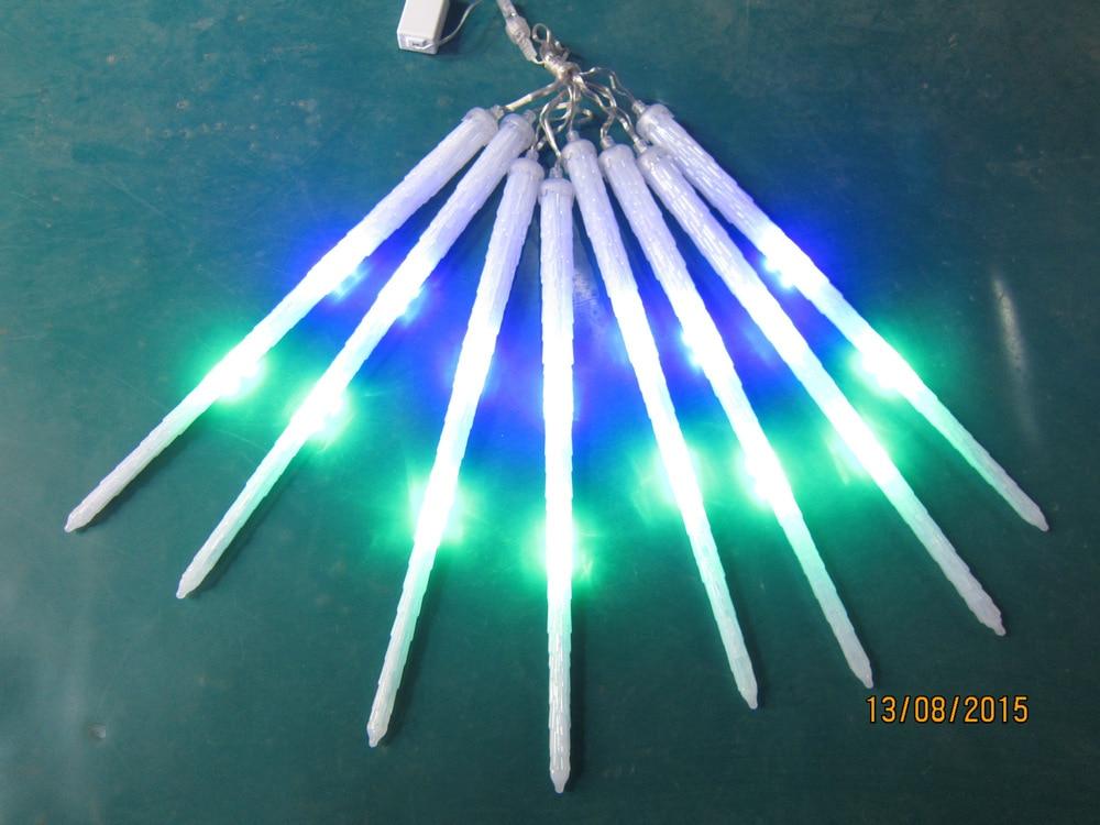 5 ensembles/lot LED météore lumière Multi couleur 400 cm longueur Ac85-265v haute tension 8 pièces/ensemble