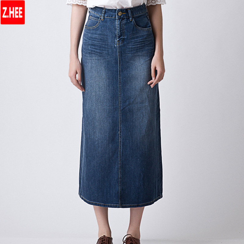 Aliexpress.com : Buy Long Denim Skirt 2015 New Arrival Women Long ...