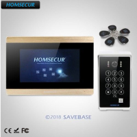 HOMSECUR 7 Video&Audio Home Intercom+Password & ID Access for Home Security