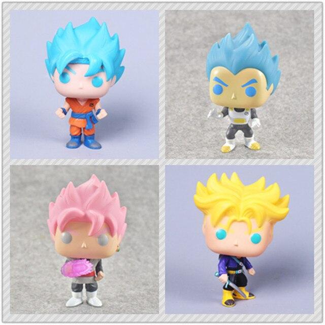 2018 Moda 4 Estilos figura Dragon ball Z Super Saiyan Trunks Goku Preto Super Vol. 2 PVC Action Figure Modelo Brinquedos