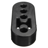 2pcs Universal Car Rubber Exhaust Hanger Pipe Mount Mounting Bracket With 4 12mm Holes Heavy Duty