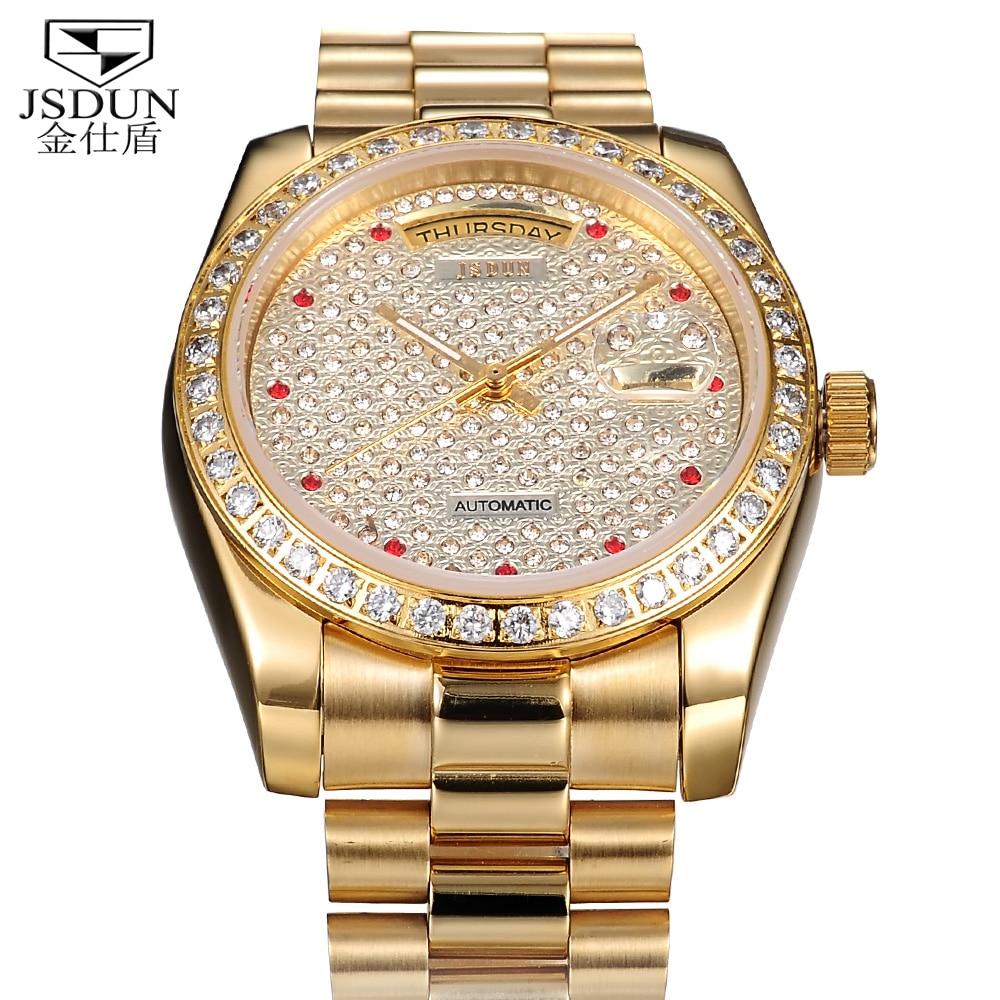 real gold diamond watches best watchess 2017 aliexpress luxury date day calendar steel case self wind