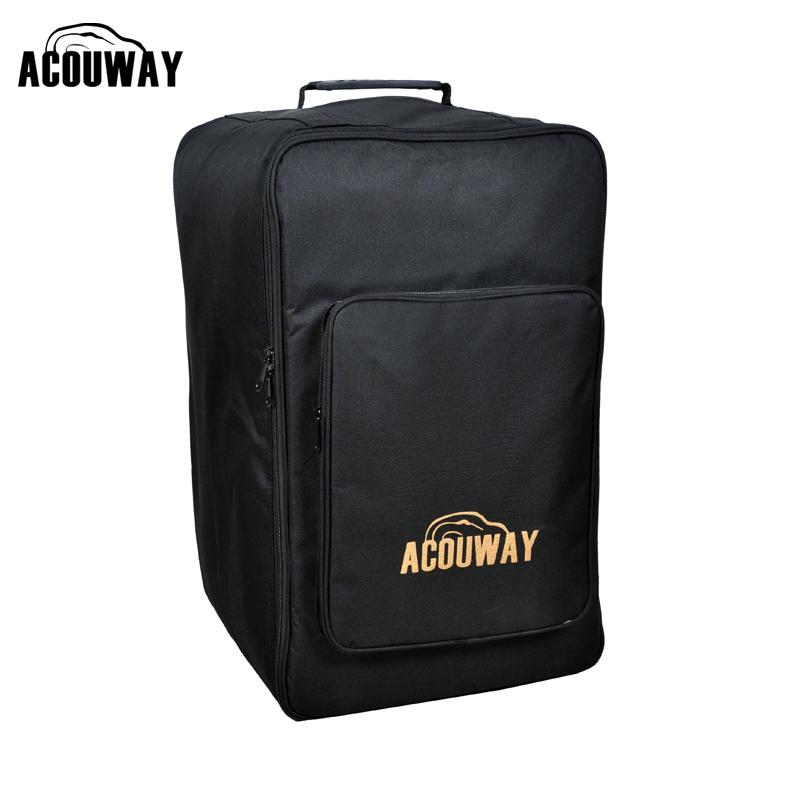 Acouway Standard Adult Cajon Box Drum Bag Case 600D 10MM Padding Board Game Back Bag Also For Outdoor Hiking Camp