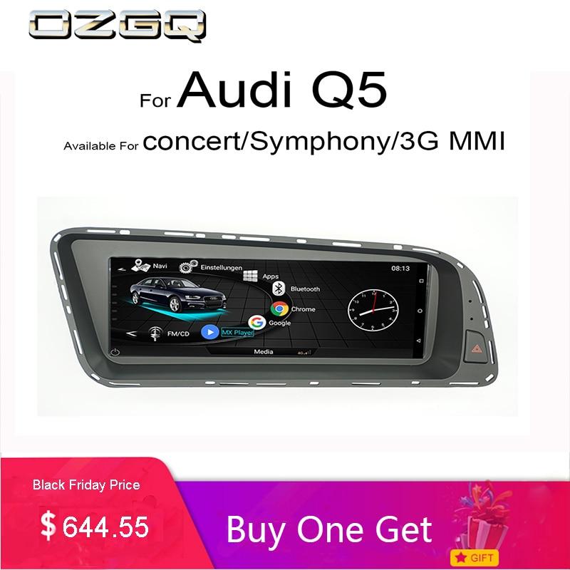 OZGQ Sistema Android 3g MMI Car Multimedia Lettore Autoradio Per Audi Q5 2010-2016 Con MMI di Controllo Bluetooth WIFi Funzione Mappa