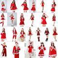 Сексуальные Санта-Клаус костюм Экзотическое одеяние Белый Красный Фантазии 2016 Популярные Экзотические одежда Костюмы Эротические Задерживаться Рождественское Платье