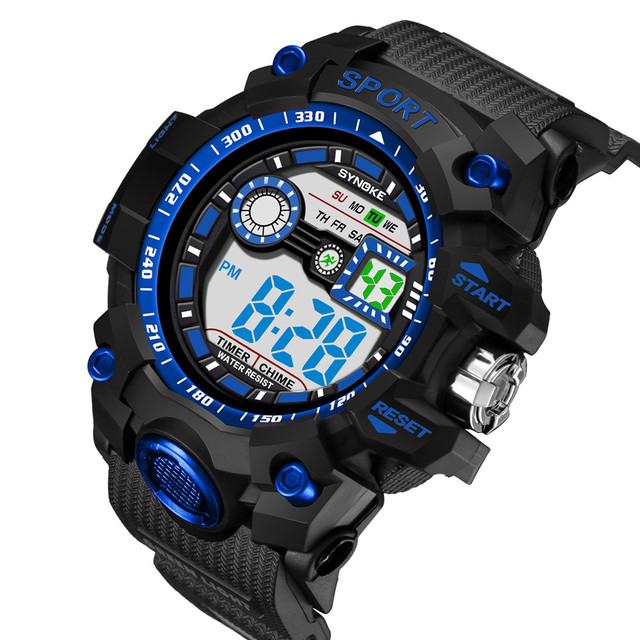 SYNOKE Roledly Luxury Brand Sports Watches Multi-Function Watch LED Digital Doub