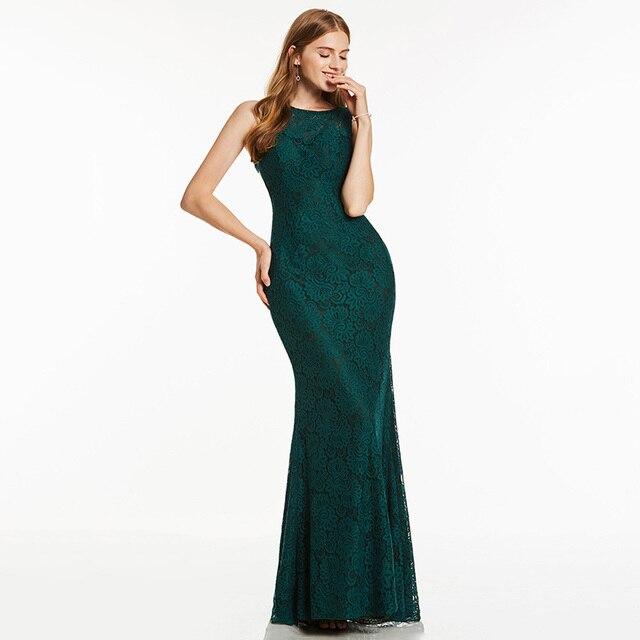 Dressv فستان سهرة طويل أحمر رخيصة مغرفة الرقبة بلا أكمام الدانتيل متقاطع الأشرطة حفل زفاف فستان رسمي فساتين السهرة