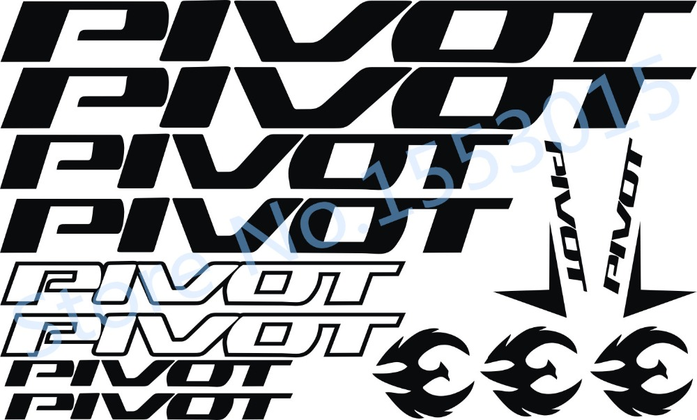 Pivot Vinyl Decals Stickers Sheet Bike Frame Cycle Cycling Bicycle Mtb Road