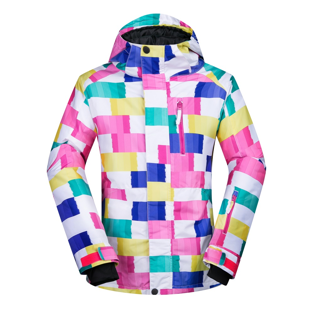 Withstand 30 degree weather Female Snow Jackets detachable hooded ladies snowboarding jackets winter climbing coats waterproof