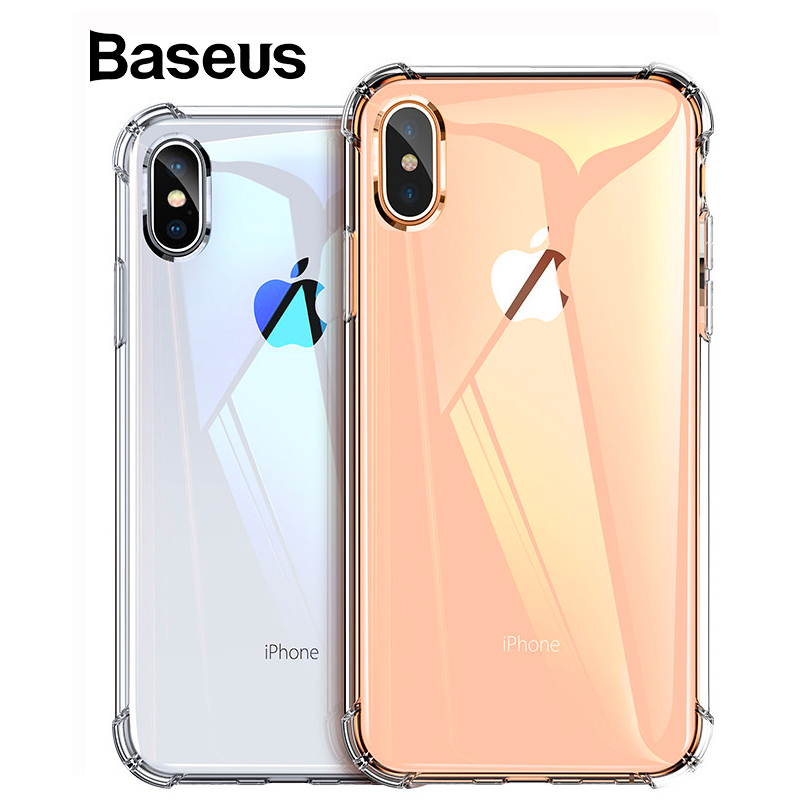 Baseus Anti-knock Phone Case for iPhone Xs XR Xs Max Clear Soft TPU Protective Back Cover for 2018 New iPhone Accessories Coque