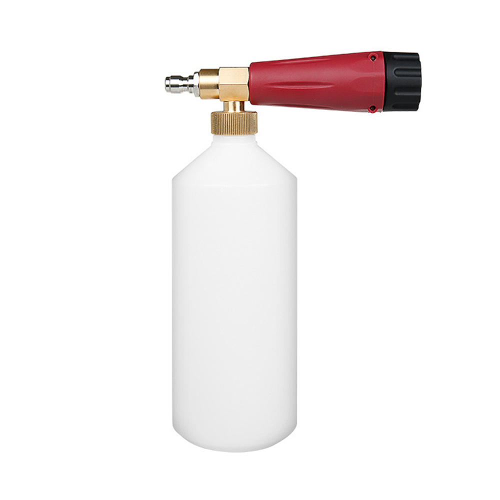 """High Pressure Washer Snow Foam Lance 1/4"""" Quick Connector Foam Generator 1 L Soap Foam Cannon Car Washing-in Water Gun & Snow Foam Lance from Automobiles & Motorcycles"""