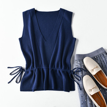 new sweater vest women fine wool material sleeveless V collar pullover female fashion sweaters
