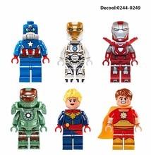 6 шт. MK47 MK39 MK33 Пространства Железный Человек Hyperion Captian Америка Супергероя Цифры Строительные Блоки Лепин