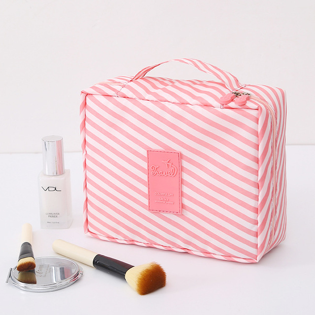 Multifunction Travel Cosmetic Bag Women Makeup Toiletries Organizer Waterproof 5