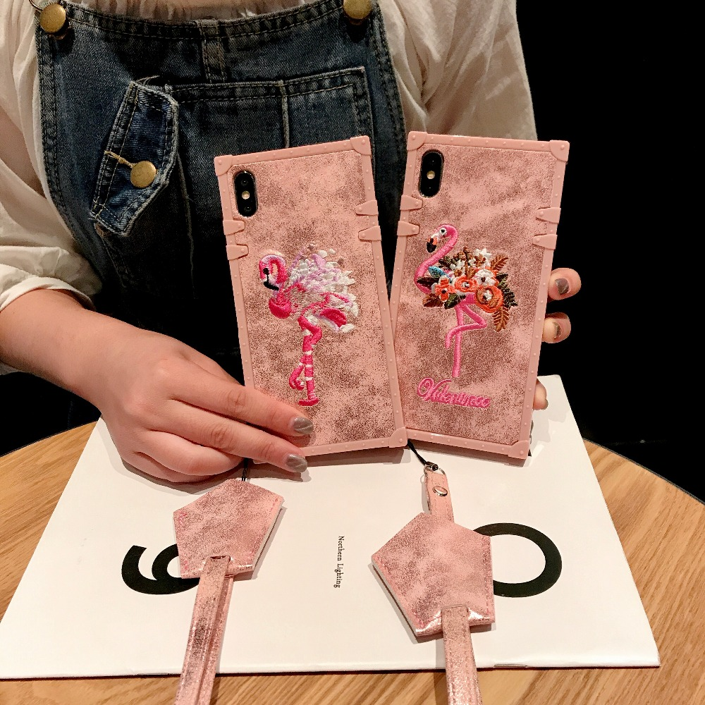 Cases For Huawei P20 Pro P20 Cover 3D Pink Embroidery  (6)