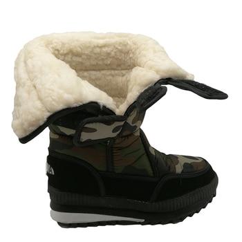 New men snow boots waterproof men's ankle boots Winter outdoor Fur warm Mans Boot fashion work shoes Men Shoes Unisex Size 36-46 2